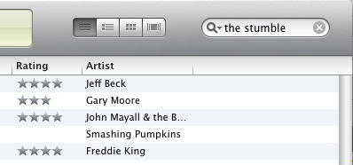 "iTunes search for ""The Stumble"""